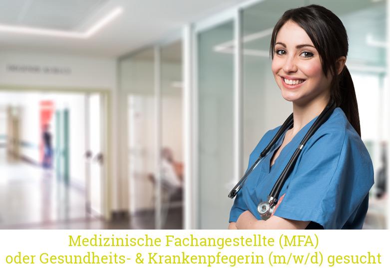 Stellenangebot: MFA oder Gesundheits- und Krankenpflegerin (m/w/d)